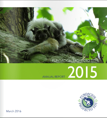 PROYECTO TITI'S 2015 ANNUAL REPORT